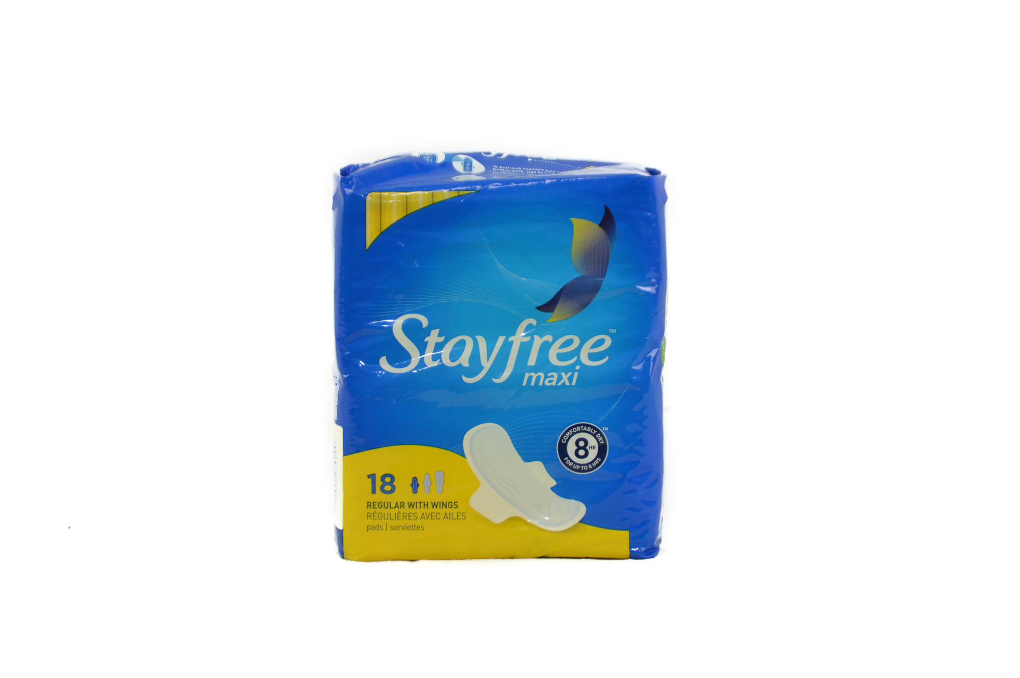 Stay Free regular Pads with Rings 18 Units (2 packs)