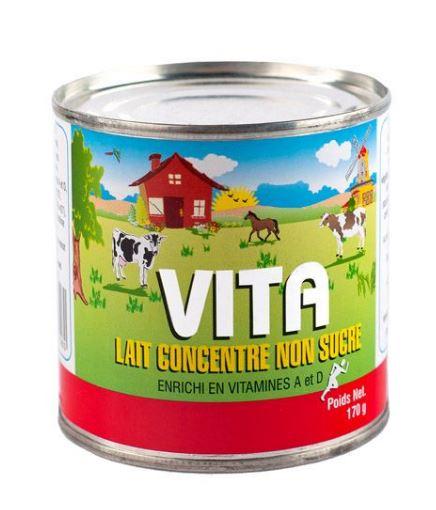 Evaporated milk / Lait Evaporé Vita (24 X 170g)
