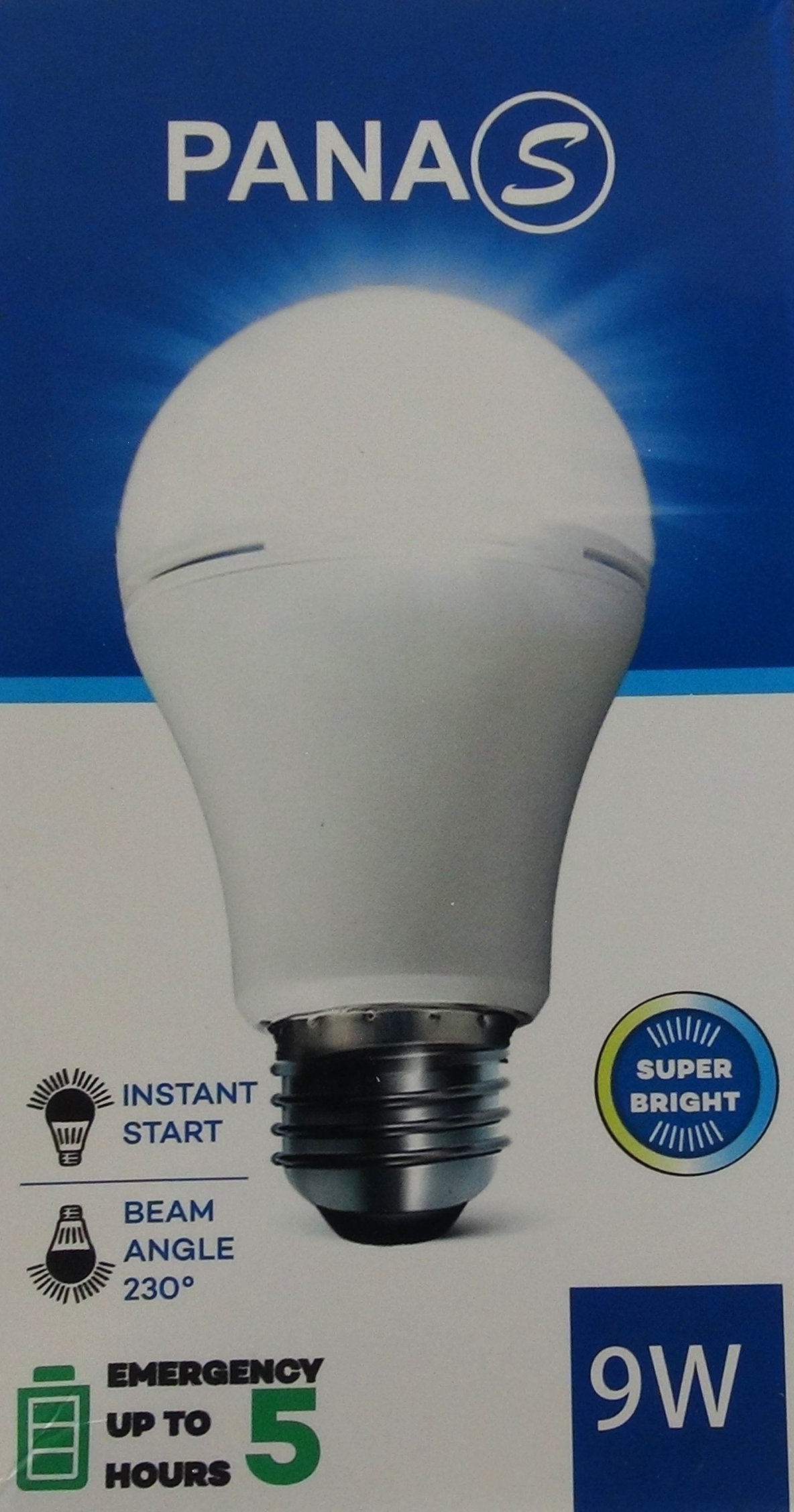 Light Bulb / Ampoule PANAS rechargeable 9 W
