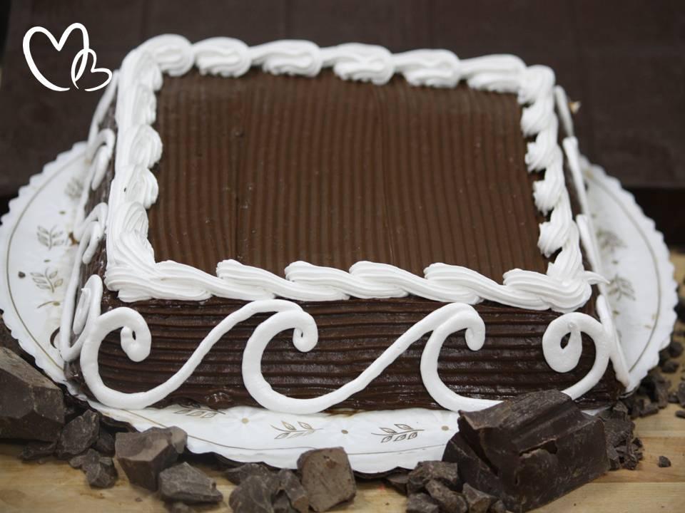 Cake/Gateau chocolat rectangle 15 pers +